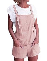 e728a214fa72 semen Ladies Denim Dungarees Playsuit Jumpsuit Mini Dress Pinafore Short  Jeans · £14.99 · Women Elastic Waist Dungarees Linen Cotton Pockets Rompers  ...