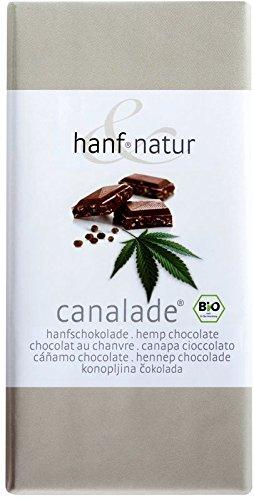 *Canalade BIO Hanf-Vollmilchschokolade mit geschältem Hanfsamen (Inhalt:10 Tafeln je 100g)*