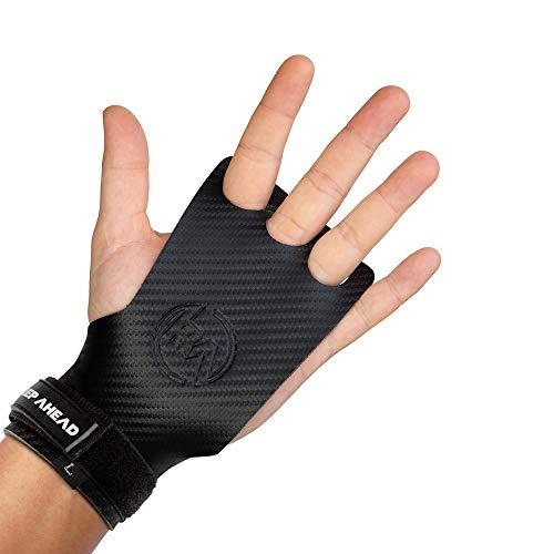 REP AHEAD® Grips 2.0 - Die neuen innovativen Fitness Grip Pads für Crossfit, Gewichtheben, Kraftsport - Griffpolster aus Leder für optimalen Hand Grip und Handschutz (Handschuhe für Herren/Damen) (M)