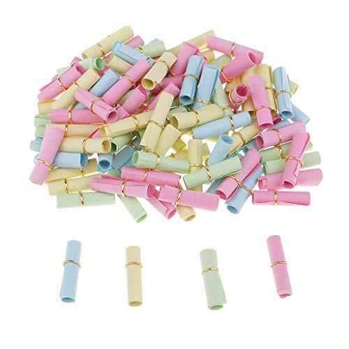 100 Pcs Schöne süße klare Pille geformte Nachricht Mini Kapsel Liebe Freundschaft Wunschflaschen mit Papier (Rolling Gold Ring)