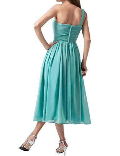 Find Dress Plissé Robe Soirée Grande Taille pour Cérémonie Femme Mariage avec Bretelle Asymétrique Robe Demoiselle d'Honneur Mi Longue Princesse Fête Noel Wedding Dress Bleu