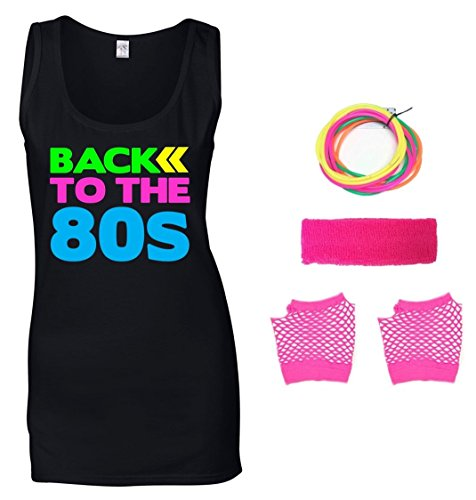 Back to The 80s Ladies Vest & Accessories