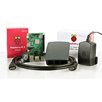 Almost Anything Ltd Raspberry Pi 3 Modell B + Offizielles Starter Kit (16 GB, Schwarz)