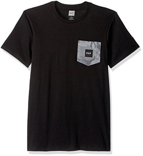 Herren T-Shirt HUF Street Ops Camo Pocket T-Shirt Schwarz