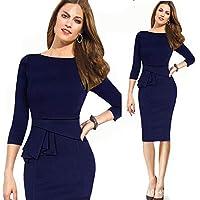 Sheath Dress For Women - L, Blue