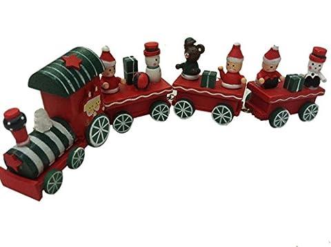 LD Weihnachten Deko Cute Weihnachtszug Holz Zug Eisenbahn Weihnachtsdeko Weihnachten Kinder Geschenk