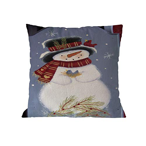 (TEBAISE Karneval Weihnachten Kissenbezug Set Leinen Dekorative Kissenhülle Drucken Sofa Bett Home Decor Kissen Cover 45 x 45cm Fasching Fasnacht Weihnachten Zierkissenschutzbezüge)