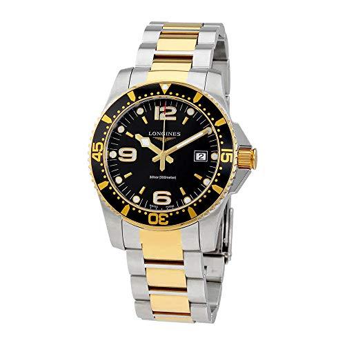 Longines Reloj Hidroconquista Cuarzo Negro Oro Dial