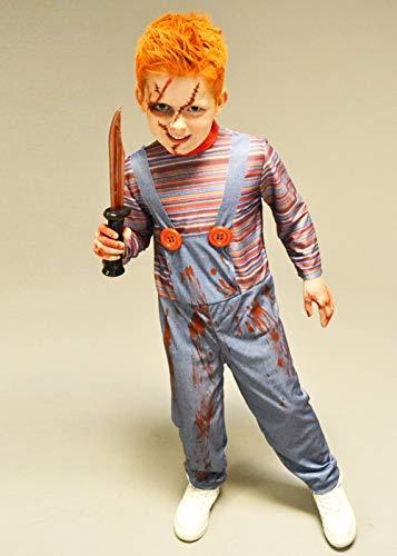 Magic Box Int. Halloween Böse Puppe Kostüm in Kindergröße XL (10-12 - Böse Puppe Kostüm