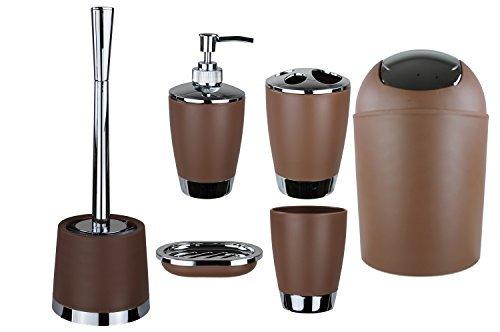 Accessori Bagno Marrone : Gmmh set di accessori da bagno con dispenser per sapone