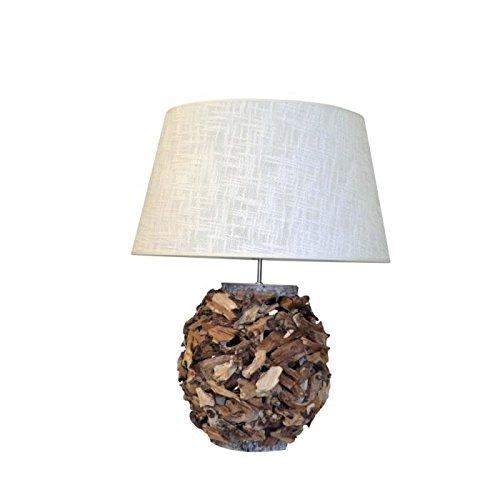 Lampe de table perforée Natura 28 cm naturel
