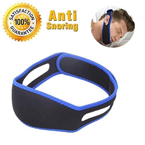 Anti Schnarchen Kinnriemen, effektivste Stop-Schnarch-Lösung und Anti-Schnarch-Gerät, einstellbare Schnarchreduzierung, Gurtanschlag, Schnarchen, Schlaf für Männer, Frauen, Kinder -