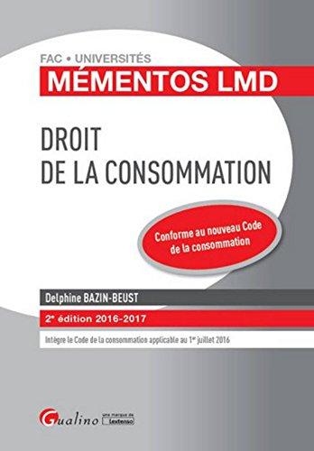Mémentos LMD - Droit de la consommation, 2ème Ed.