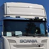 TRUCKDANET Accessori in acciaio INOX per camion serie Streamline, fascia parasole inferiore