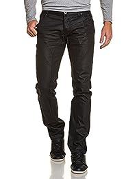 BLZ jeans - Jeans noir huilé homme droit