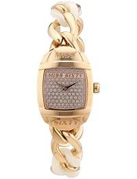 Miss Sixty Damen-Armbanduhr XS BUBBLE Analog Quarz Edelstahl R0753123501
