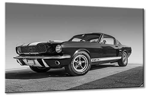 Fine-Art-Manufaktur Ford Mustang GT 350 Schwarzweiß Oldtimer Design Traumauto Kunst | Aus der Serie American Roadrunner | Farbe: schwarzweiss | Rubrik: Cars + Auto Bilder