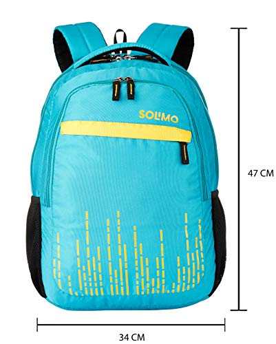 Amazon Brand - Solimo Trellis Laptop Backpack for 15.6-inch Laptops (31 litres,Turquoise) Image 5