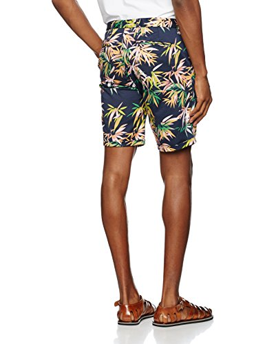 Scotch & Soda Herren Short in Dense Twill Quality with All-Over Print Mehrfarbig (Combo 217)