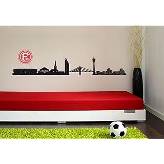alenio Wall Tattoo/Sticker, Fortuna Düsseldorf Skyline with Logo, (4ft)
