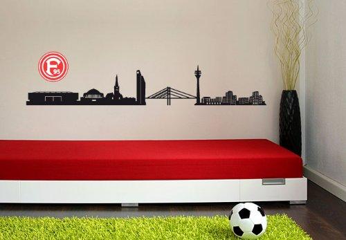 fortuna duesseldorf aufkleber Wandtattoo – Fortuna Düsseldorf Skyline mit Logo, 120 cm Breite