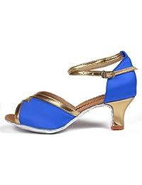 8a52f1ea69 HIPPOSEUS Zapatos de Baile Latino para Mujer Zapatos de Baile de Salsa  Tacón 5CM / 7CM Suela de Gamuza…