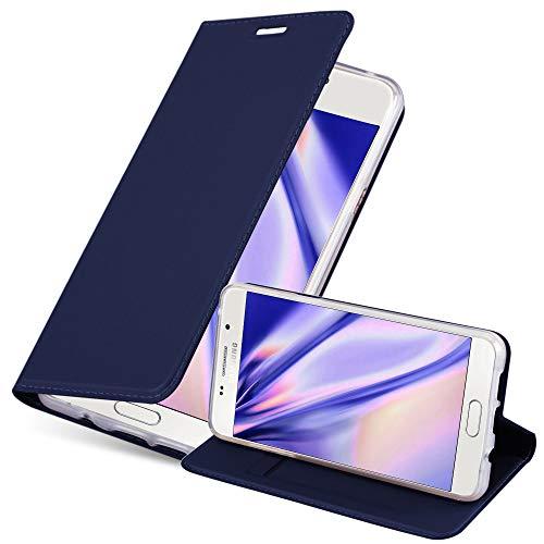 Cadorabo Custodia Libro per Samsung Galaxy A5 2016 in Classy Blu Scuro - con Vani di Carte, Funzione Stand e Chiusura Magnetica - Portafoglio Cover Case Wallet Book Etui Protezione