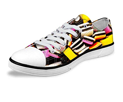 Candy Lightweight Low Top Trainers Canvas Sneakers Walking Pumps for Women Girl CA5415AP Women's US 10 \u002F EU 40