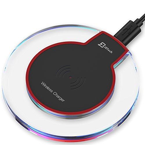 JETech Caricatore Wireless Rapido, Compatibile con Tutti i Dispositivi Abilitati Qi, Nero