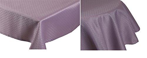 BETZ Nappe Jacquard Linge de Table Dessin 12 Couleur de Lavande Size 130x160 cm