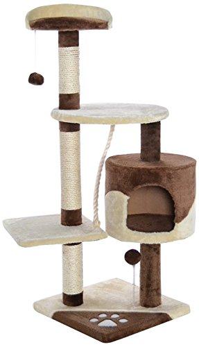 dibea KB00204 Kratzbaum für Katzen, 112 cm Höhe, braun/beige