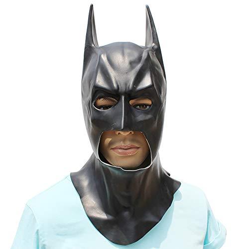 Story of life Gruselige Maske Halloween Cosplay Kostüm Männer Erwachsene Latex Gesichtsmasken Kostümparty Merchandise Zubehör,Black (Fancy Dress Sie Eigenen Ihre Machen Halloween)