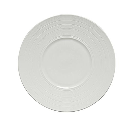 white-food-pan-simple-12-inch-steak-plate-creative-ceramic-band-bai-sipan-cake-platterswide-brim
