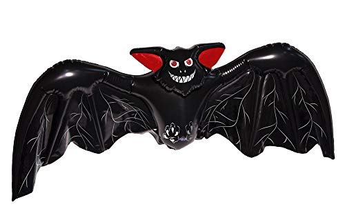 Folat 23758 Aufblasbare Fledermaus Halloween Schwarz -