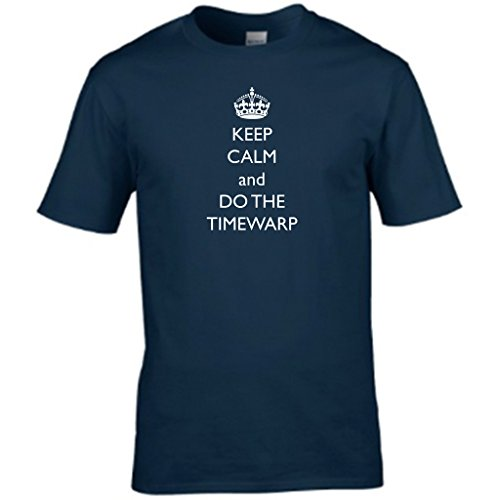 KEEP CALM AND DO THE rocky horror TIMEWARP-show Herren t shirt Blau - Navy