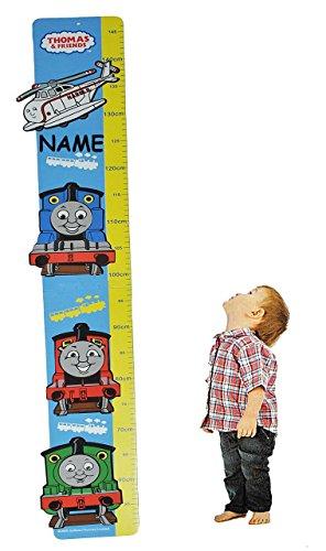 Unbekannt Meßlatte Moosgummi - Thomas die Lokomotive incl. Namen - Messlatte für Kinderzimmer Kinder Kind - Zug Lok Meßleiste als Wandsticker / Wandtattoo