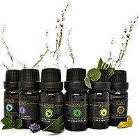 SENSE Set mit 6 x 10 ml ätherischen Ölen – 100% reine Premium-Öle – Lavendel, Pfefferminze, Teebaum, Eukalyptus... preisvergleich bei billige-tabletten.eu
