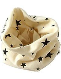 Schal - SODIAL(R)Jungen Maedchen Kragen Baby Schal Baumwolle O-Ring Hals Schals (beige)