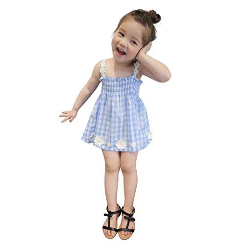 37bf791c6 Vestido Bebe Niña K-youth® Ropa Bebe Niña Verano 2018 Chicas Sin mangas  Flor del sol Vestido de niña Vestido Niña Ceremonia Fiesta Tutu Princesa  Vestido ...