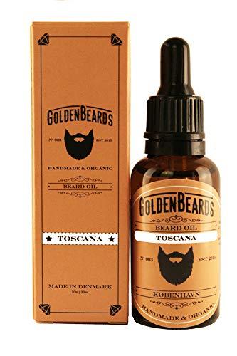 Bio Bartöl - TOSCANA - 30ML 100% Organisch | Jojoba & Argan & Mandelöl von Golden Beards -