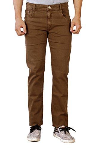Par Excellence Men's Brown Relaxed Fit Jeans (Size- 44)