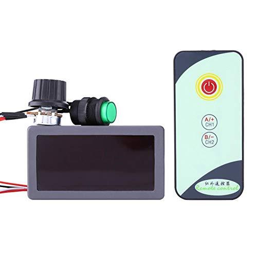 Akozon DC-Motordrehzahlregler umkehrbar 6V 12V 24V PWM DC Motordrehzahlregler Digitalanzeige mit IR Fernbedienung für DC-Motor-Treiber-Modul