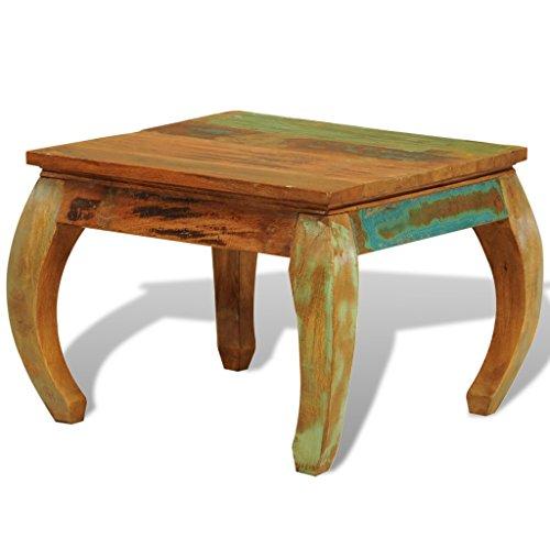 Mesa baja cuadrada de madera, diseño Vintage