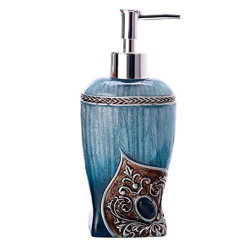 GBNIRE Handseifenspender mit rostfreier Edelstahlseifenpumpe, 250ml-Spenderflaschen, Lotions- / Seifenspender für Küchen- oder Badarbeitsplatten (Farbe : Blau)