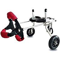 Ann Haustier-Rollstuhl, justierbarer Rollstuhl, für die Hinterbein-Reparatur der untauglichen Hunde und der Katzen, wiegend 3 bis 5 Pfund, Hinterbein-Unterstützung für Hunderollstuhl (größe : M)