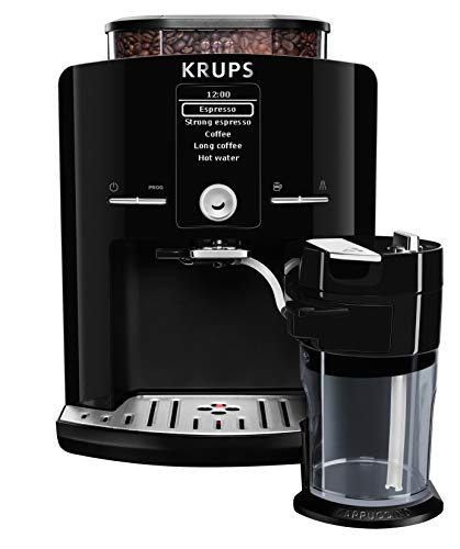 KRUPS EA8298 Kaffeevollautomat Latt'Espress One-Touch-Funktion (1,7 l, 15 bar, LC Display, Cappuccinatore) schwarz