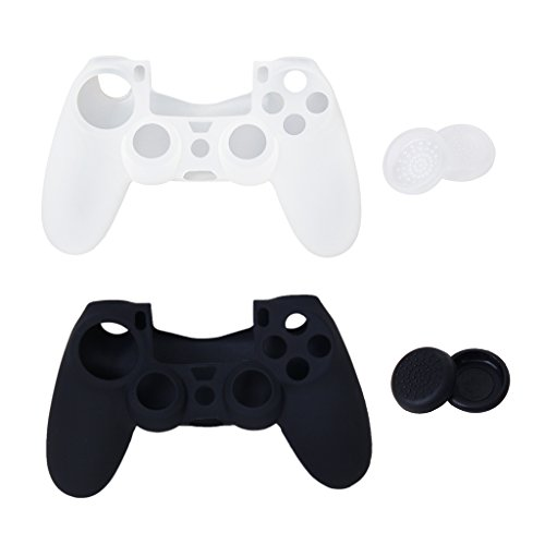 4 Botones Tapas Joystick + 2 Cubierta Protectora Para Sony Controlador 4 PS4 41tRUqV61CL