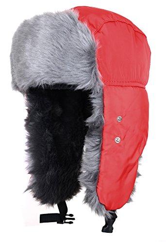 ODEMA Unisex Nylon Russian Style Winter Ear Flap Hat Black One Size