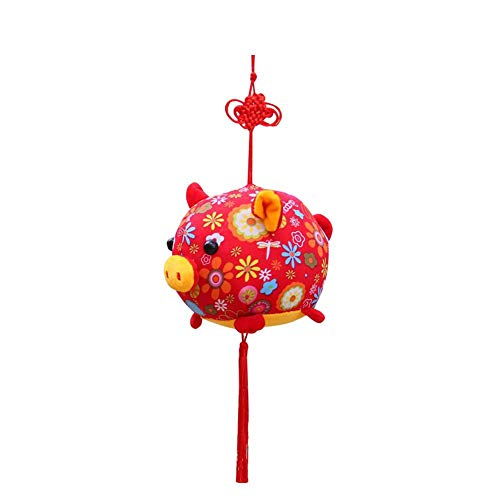 Schwein Plüsch Puppe Chinesischen Knoten Spielzeug PP Baumwolle Rot Maskottchen Spielzeug für Neue Jahr Mädchen Jungen Hängende Dekoration - Chinesische Neues Jahr-dekorationen