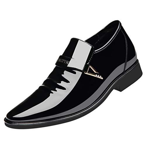Dhyuen MäNner 2019 Heißer Business Patent Leder Helle Leder Wies Bequeme Gezeiten Schuhe Black Patent Peep Toe Stiletto Pumps